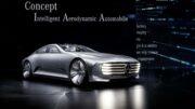 Das Mercedes-Benz Concept IAA (Intelligent Aerodynamic Automobile) ist zwei Autos in einem: Aerodynamik-Weltrekordler mit einem cw-Wert von 0,19 und viertüriges Coupé mit faszinierendem Design. Die Studie, die auf der IAA in Frankfurt ihre Weltpremiere erlebt, schaltet ab einer Geschwindigkeit von 80 km/h automatisch vom Design-Modus in den Aerodynamik-Modus und verändert durch zahlreiche aktive Aerodynamik-Maßnahmen ihre Gestalt.