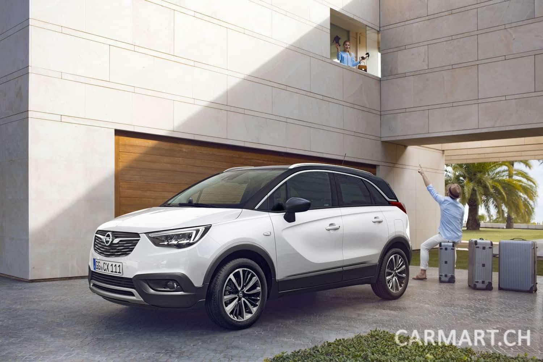 Cooles Auto, coole Premiere: Der neue Opel Crossland X fährt vor ...