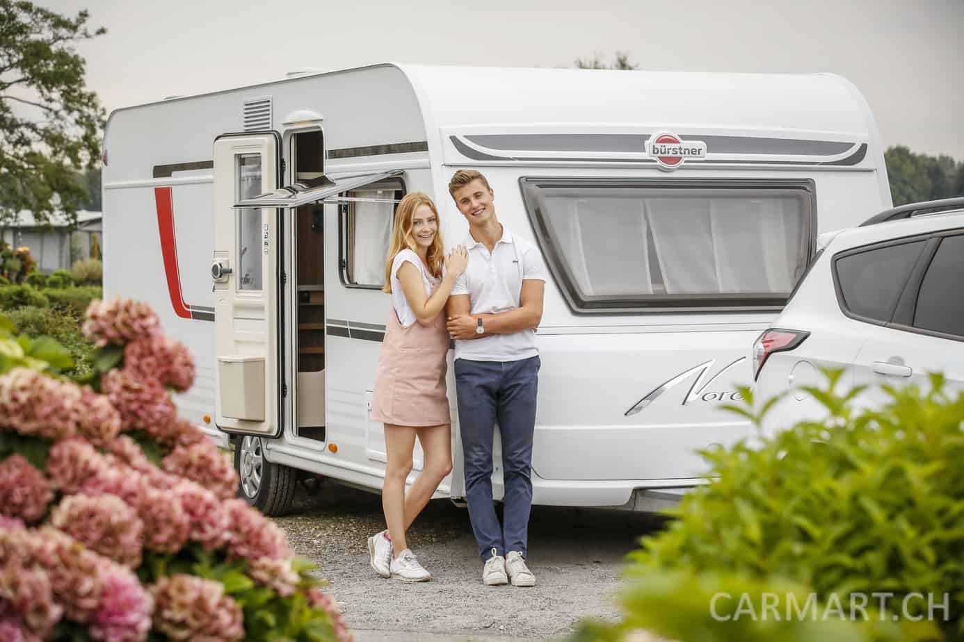 Caravan Salon 2018 Fotoshooting am Unterbacher See