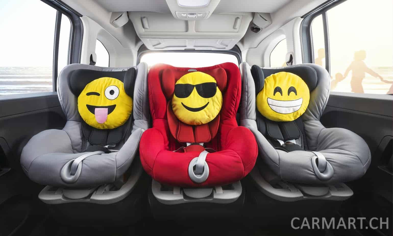 Mit den drei Isofix-Sicherheitssystemen sitzen in der zweiten Reihe bis zu drei Kinder sicher und bequem!