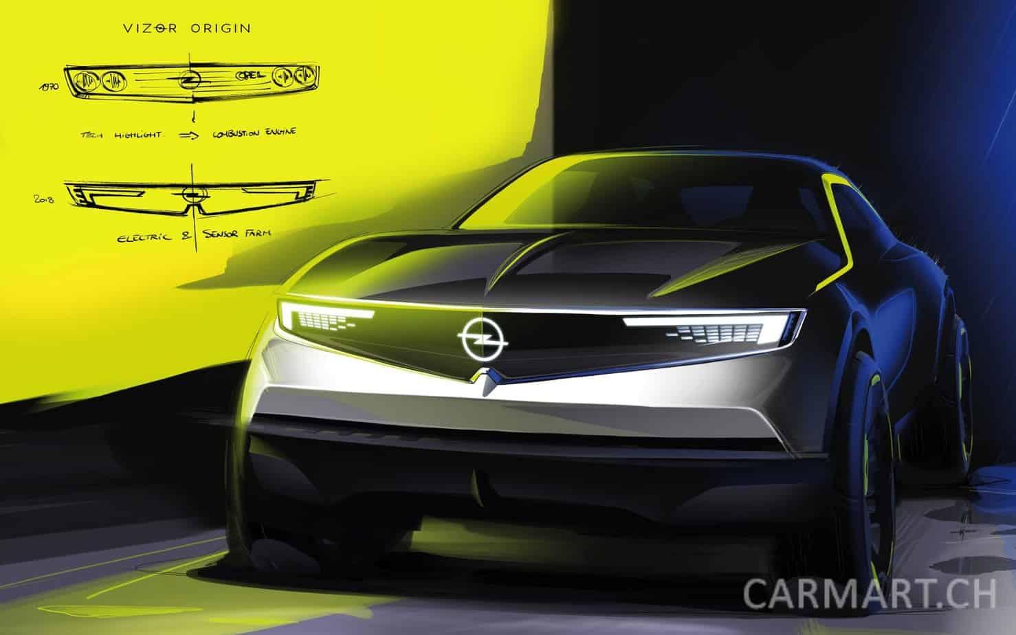 Opel Kompass & Vizor im Opel GT Experimental 2018
