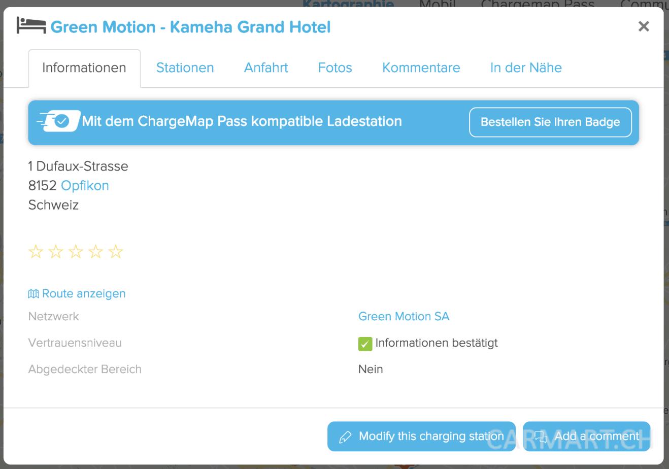 chargemap.com Informationstafel
