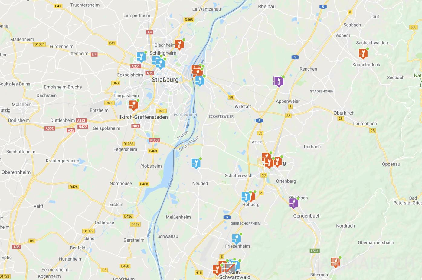Chargemap.com Karte