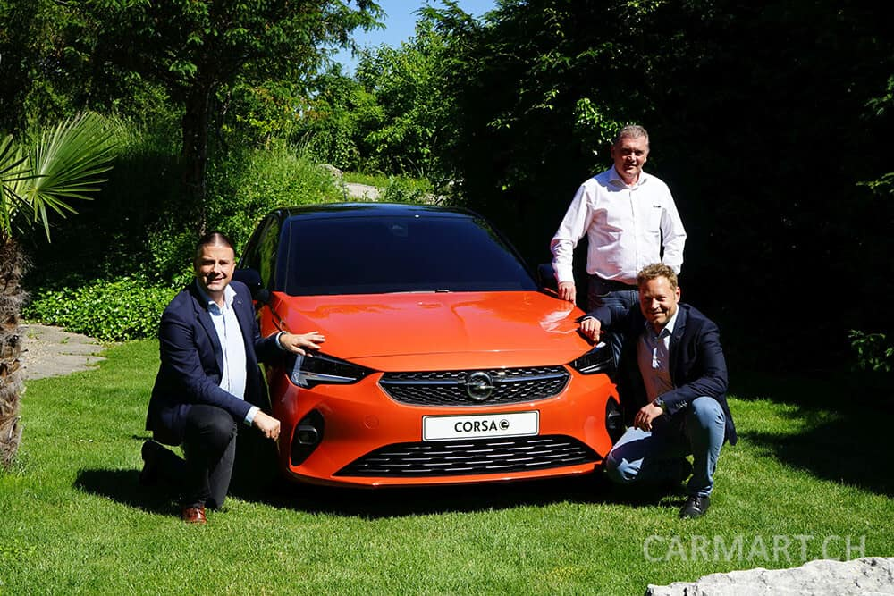 Samuel Duc, Antony Bailey, Lukas Hasselberg & Opel Corsa-e