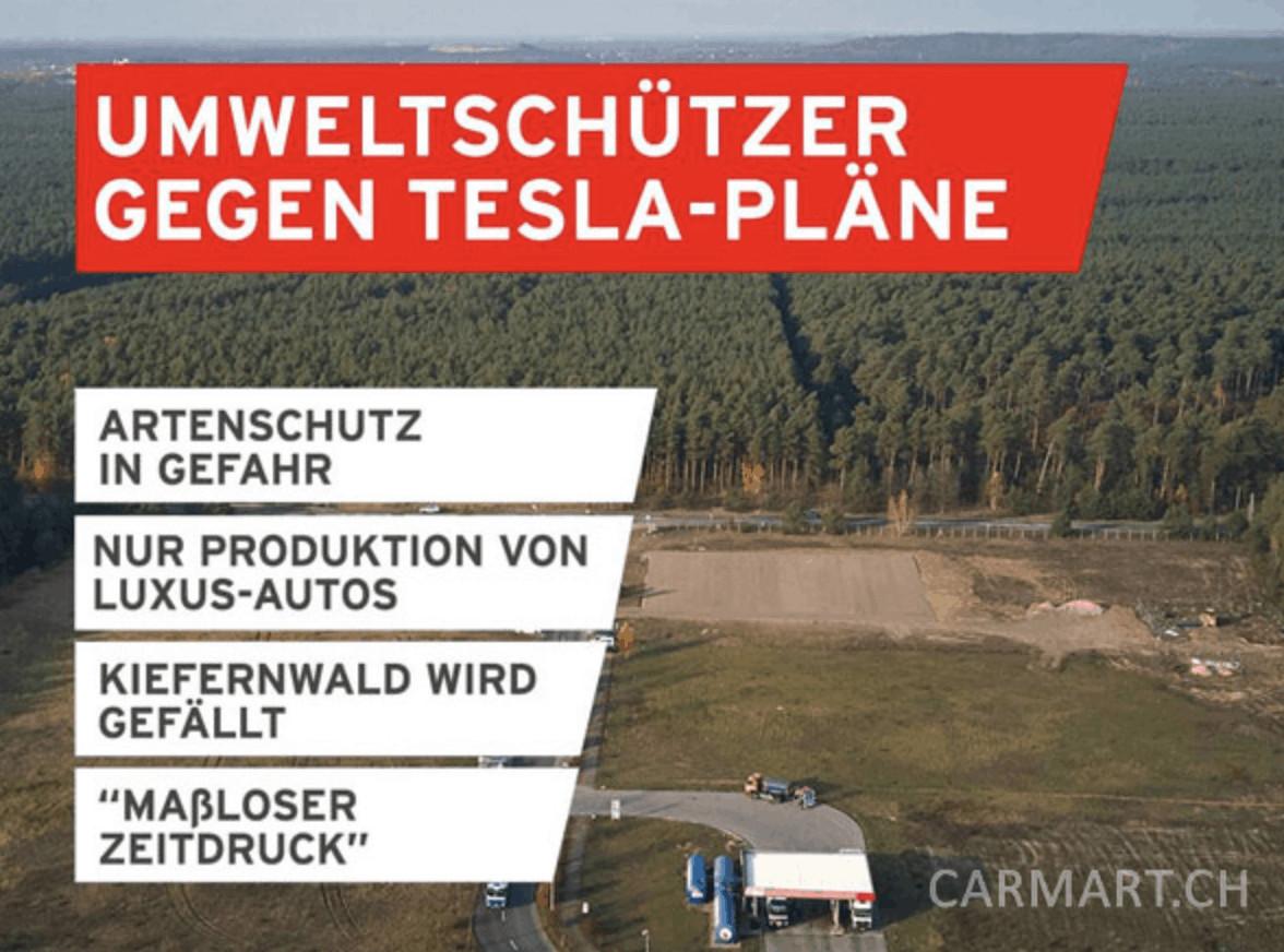 Widerstand gegen Teslas Pläne
