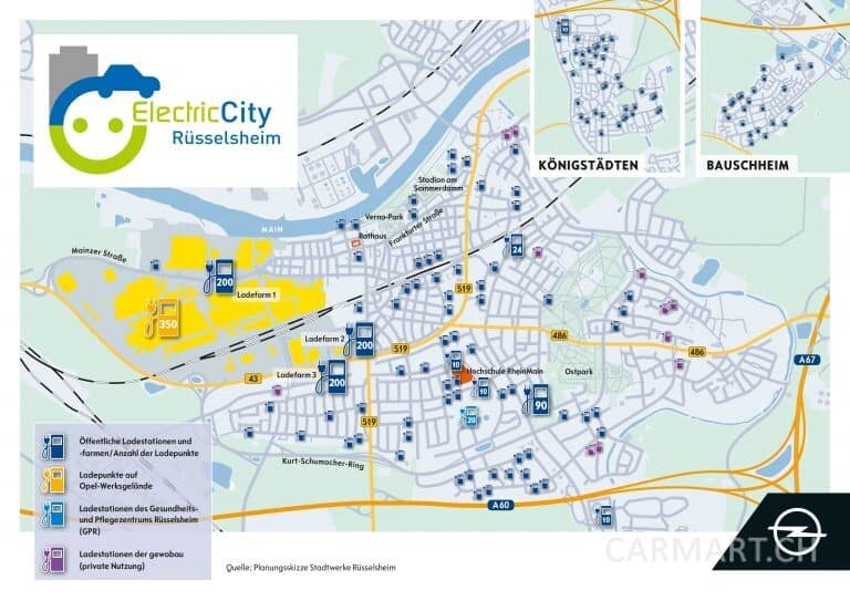 Opel Electric City Karte