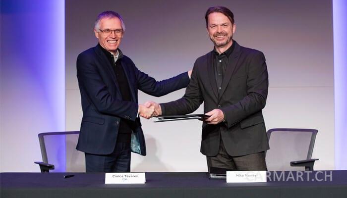 Carlos Tavares (PSA) und Michael Manley (Fiat)