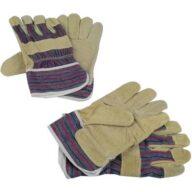 Brüder Mannesmann M41702 Schweinsspaltleder Arbeitshandschuh Größe (Handschuhe): Universalgröße EN 89 / 686 2 Paar