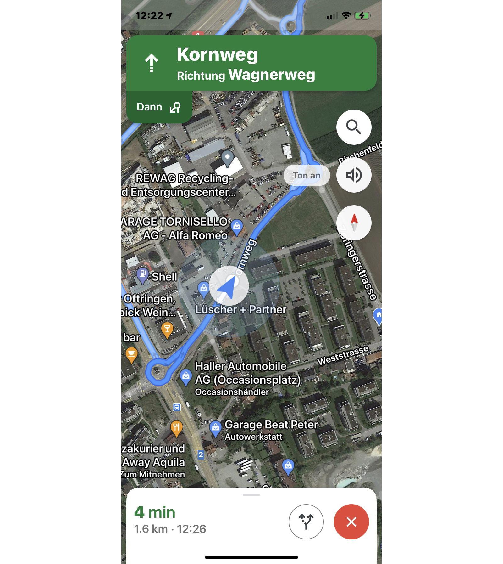 Ladestationen in Google Routenplaner integrieren