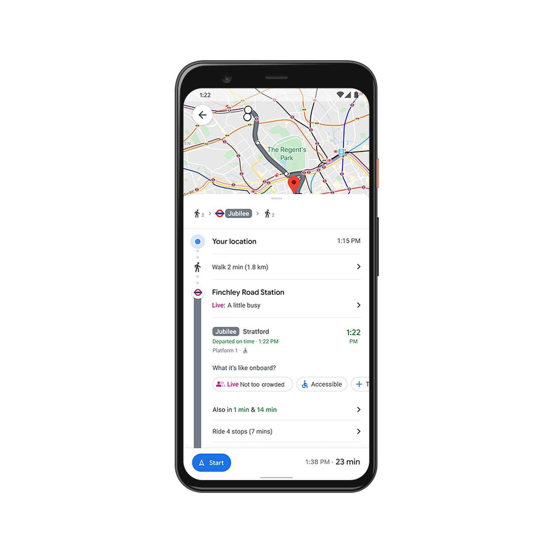 Google Maps Live Covid Information