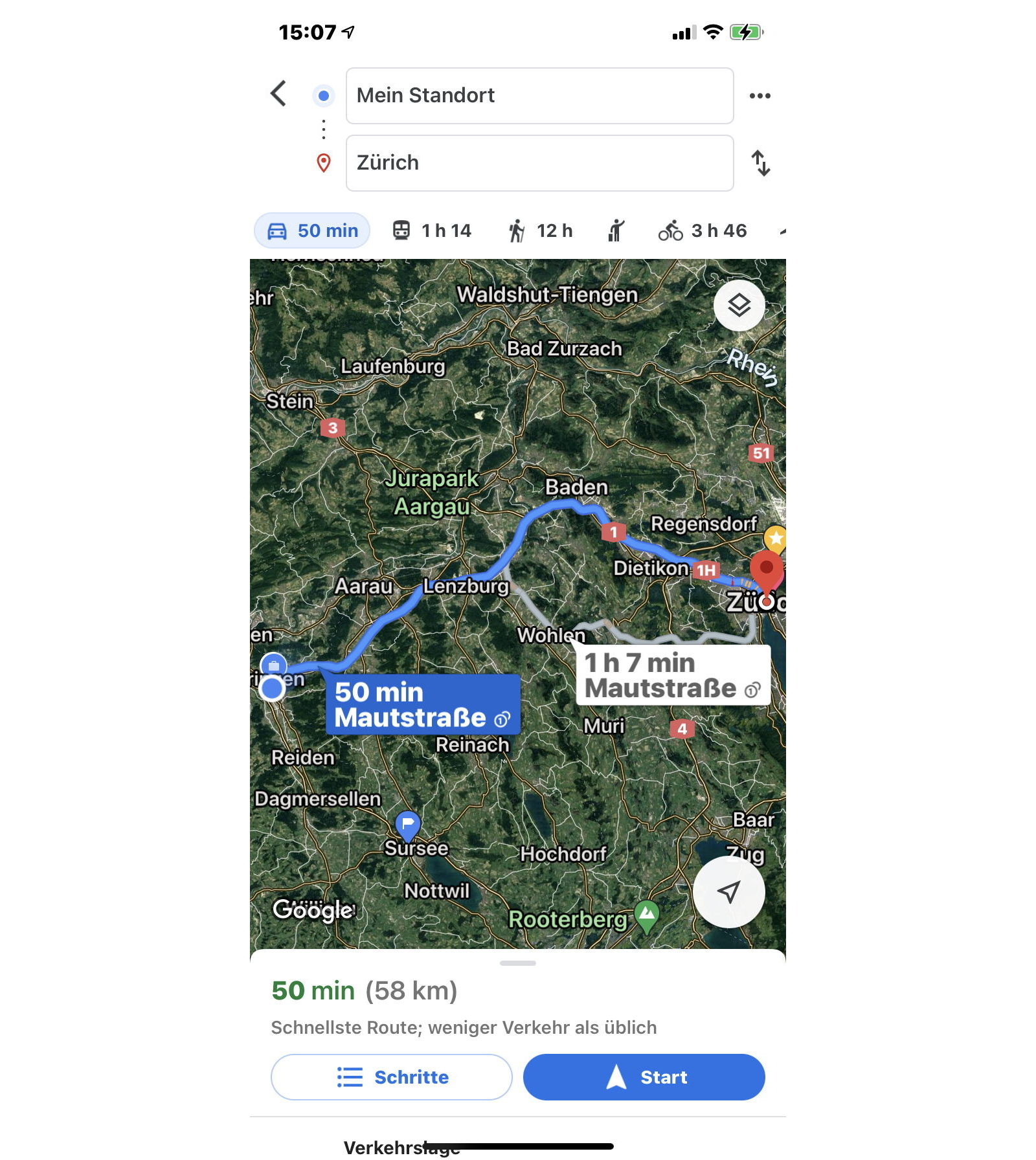 Google Maps Routenplaner Start
