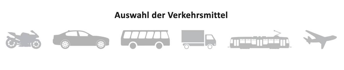 Auswahl Verkehrsmittel
