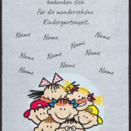 Abschiedsgeschenk Fussmatte Kindergarten 6013 - 60 cm x 80 cm