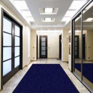 Schmutzfangmatte Meliert Karaat Blau 80 - 60 cm x 45 cm / Mit Gummirand