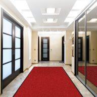 Schmutzfangmatte Meliert Karaat Rot 60 - 90 cm x 90 cm / Mit Gummirand